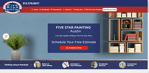 Local Search Marketing Company Services for Five Star Painting - Projects Plus Marketing