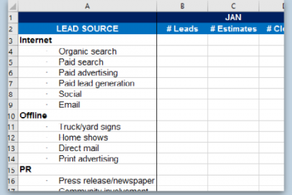 Lead Source Tracking for Contractors - Small Business Marketing